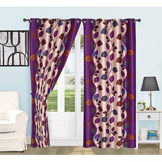 BSN beautiful Door Curtains Pack Of 2(4x7)