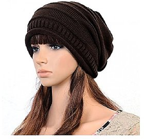 Mens Zone Girls Brown Woolen Cap