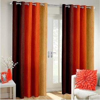 Manvi Creations Plain Door Curtain Set of 2