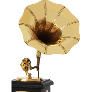 Agarwal Trading Corporation Handmade Vintage Dummy Gramophone Only For Home Dcor