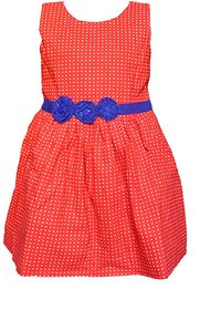 Faynci Super fine Red Frock for Girls