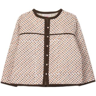 Full Sleeve Printed Girls Quilted Jacket