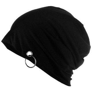 Nandini black beanie cap unisex for Man and Women