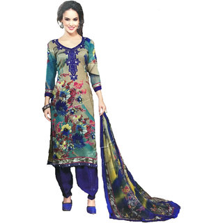 d48b0be440 Rakhi Womens Heavy Woolen Full Warm Suit With Mirror Work On Neck  Embroidery (Unstitched)