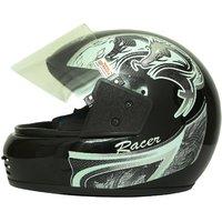 Zokar Racer Full Face Helmet Black With ISI Mark (HQ-05)