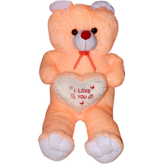 3f681c8522b58 Buy omnitex 5 feet adorable with proposal heart cream teddy bear ...