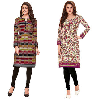 HRINKAR Multicolor and  Cotton Readymade kurties fancy for women - HRMKRCMB0072-L