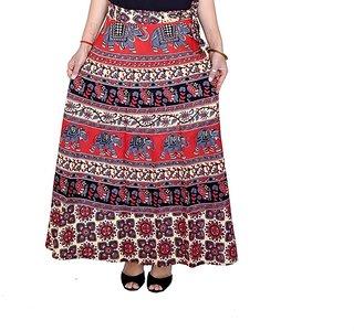N2Creations Women Wrap around cotton printed skirt