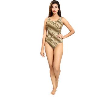 Enkay V-shape printed swimsuit
