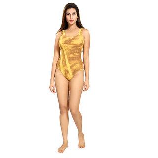 Enkay V Shape printed swimsuitE108O-GREEN