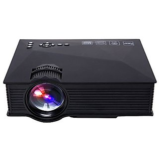 DeepLee Wireless WIFI Mini Portable LED LCD Video Projector Home Cinema Theater 800x480 1200 lumen support PC XBOX PS3 PS4 DVD TV BOX with VGA USB SD AV HDMI Miracast Airplay DLNA Pocket Projector