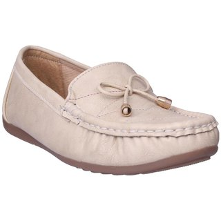 Clymb Loafers-1 Cream Ballerinas For Women In Various Sizes