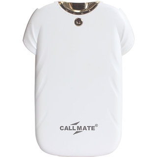 Callmate T-shirt Power bank 4000 mAh with Flashlight - White