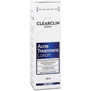 Clearclin Acne Treatment Lotion 60ml(Pack of 2)
