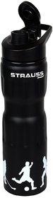 Strauss Stainless-Steel Water Bottle, 750ml (Black)
