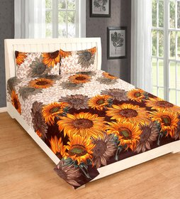 EXOTIC COTTON 1 DOUBLE BED SHEET WITH 2 PILLOW COVERS DBPC07