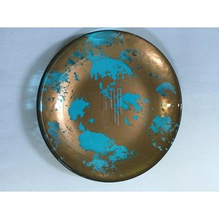 Ardacam Atlas Mini Plates brown with transparent blue base 13cm (Set of 6) (Code-3409 16-758)