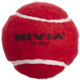 Nivia Heavy Weight Cricket Tennis Ball (Pack Of 6)