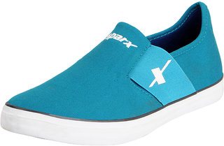Sparx Green Blue Men's Canvas Loafers