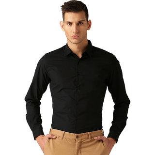 4ac42bd3f10 Buy Van Galis Fashion wear Black Formal Shirt For Men Online - Get ...