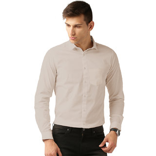 06a57b6398d Buy Van Galis Fashion wear Cream Formal Shirt For Men Online - Get 55% Off