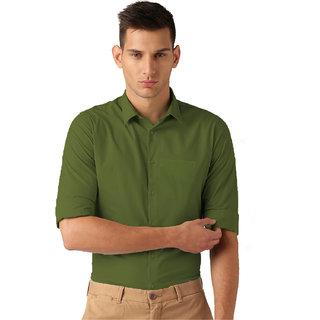 e612b300608 Buy Van Galis Fashion wear Green Formal Shirt For Men Online - Get 55% Off