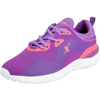 Sparx Womens Purple White Sports Running Shoes