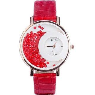 Red Diamond Mxre Wrist Analogue Watch Women Or Girls