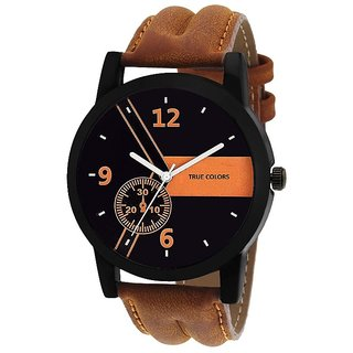 Others Round Dail Black Leather StrapMens Mechanical Watch For Men