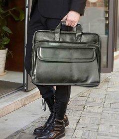 Home Story Black P.U. 15.6 Inch Laptop Bag