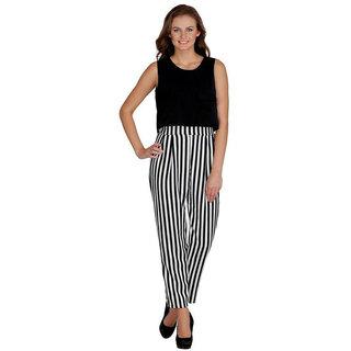 Shree Wow Zebra Upper Black Jumpsuit