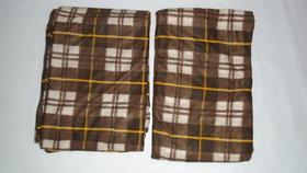 Wollen Razai Cover (Brown Print Single Bed Set)