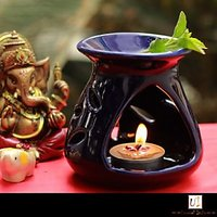 IHomes Ceramic Multicolor Aroma Floral Diffuser Set Wit