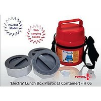 ELECTRA ELECTRIC LUNCH BOX 3 plastic containers (assorted color)