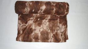 Wollen Razai Cover (Brown Print Double Bed )