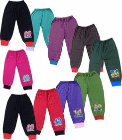 Jisha Fashion Kids Plain trackpant with Rib assorted color (Pack of 10)