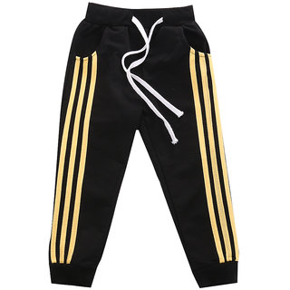 Pack Of 1 Black 100 Cotton Stylish Sports Track Pant For Kids
