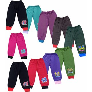 Jisha Fashion Kids Plain trackpant with Rib assorted color (Pack of 10)