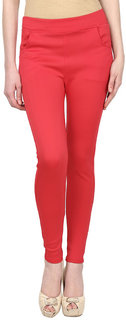 Makxziya Women's Red Jeggings