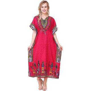 BuyNewTrend Stylish Long Kaftan Dress Made of Crepe For Women