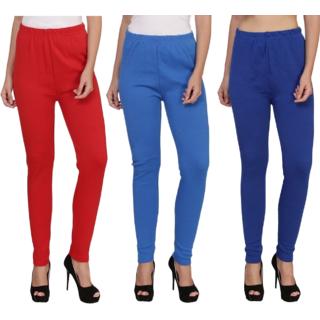 BuyNewTrend Red Sky Royal Plain Full Length Woolen/Winter Legging For Women