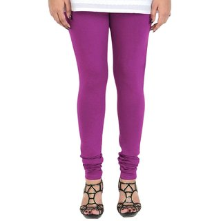 BuyNewTrend Purple Cotton Legging For Women