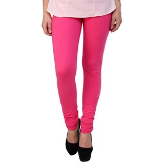 BuyNewTrend Pink Cotton Legging For Women