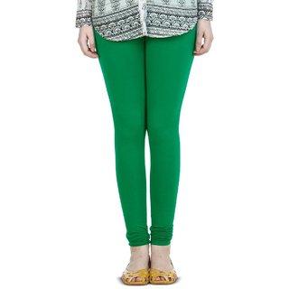 BuyNewTrend Green Cotton Legging For Women
