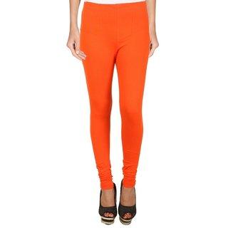 BuyNewTrend Orange Cotton Legging For Women