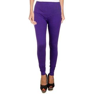 BuyNewTrend Purple Cotton Legging For Women