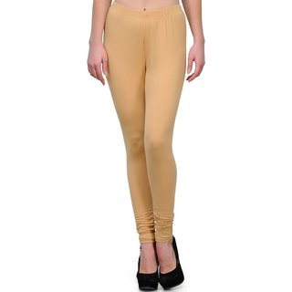 BuyNewTrend Beige Cotton Legging For Women