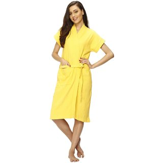 Vixenwrap Deep Yellow Solid Bath Robe