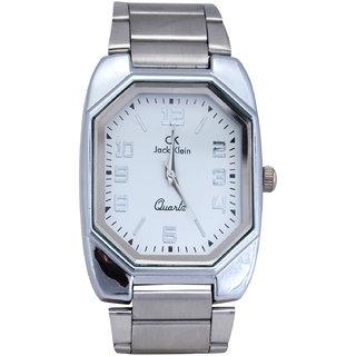 Jack Klein Metal Strap Square Analog Wrist Watch