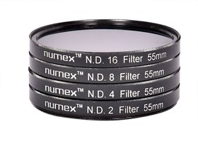 Numex 55MM ND2 ND4 ND8 ND16 ND FILTER KIT FOR SONY ALPHA 18-55MM LENS 55MM THREAD